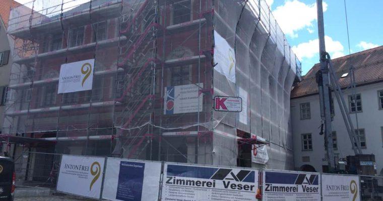Wir restaurieren die Fenster im Rathaus Leutkirch