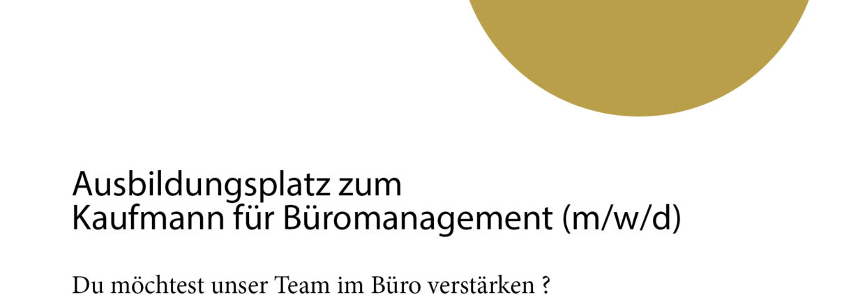 Jobangebot Büromanagement